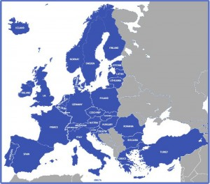 European Union Countries which require CE Marking - Map